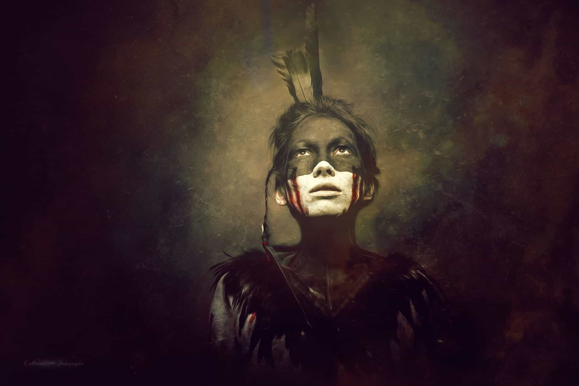 lobotomist fotografie indianer frau dark